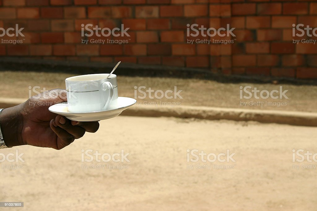 Tea Time Outdoors royalty-free stock photo