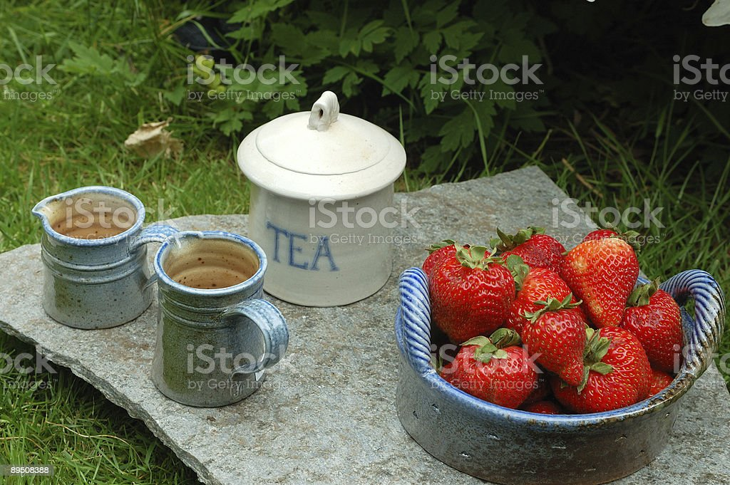 tea time setting royalty-free stock photo