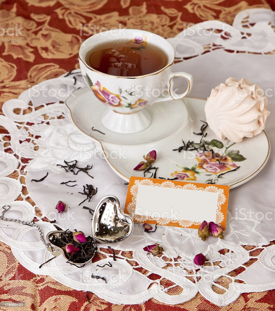 Tea time with  dessert royalty-free stock photo