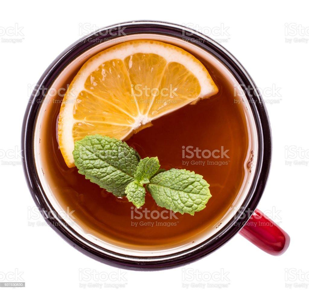 Tea top isolated стоковое фото