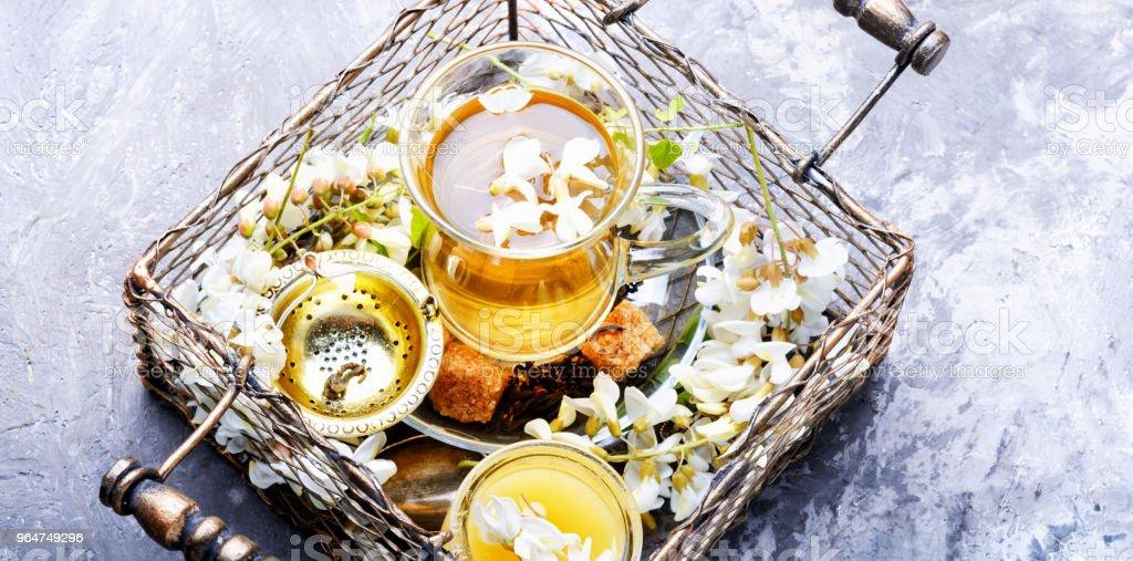 Tea with acacia flavor royalty-free stock photo