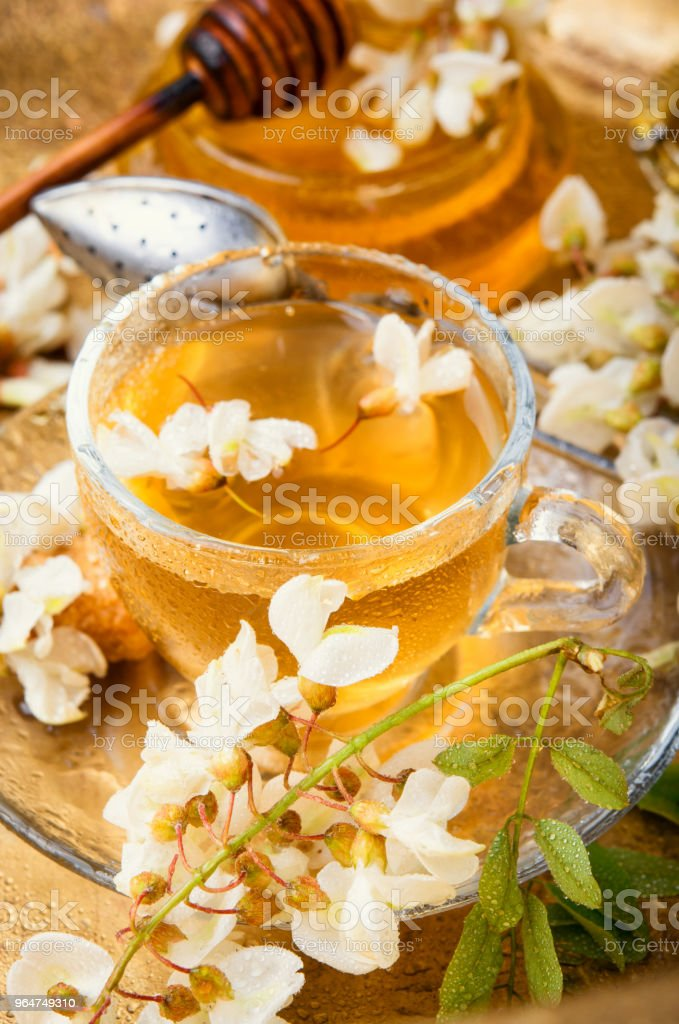 Tea with acacia flavor royalty-free stock photo