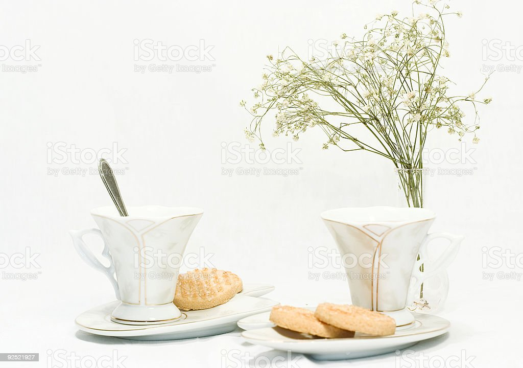 tea with cookies royalty-free stock photo
