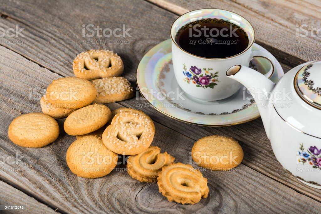 Tee mit Danish Butter cookies – Foto
