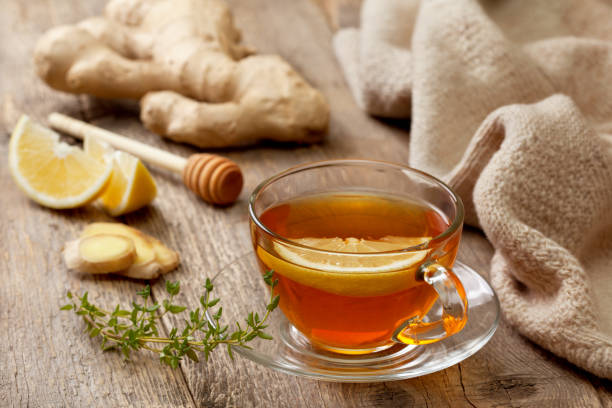 tea with ginger, lemon - ginger stock photos and pictures