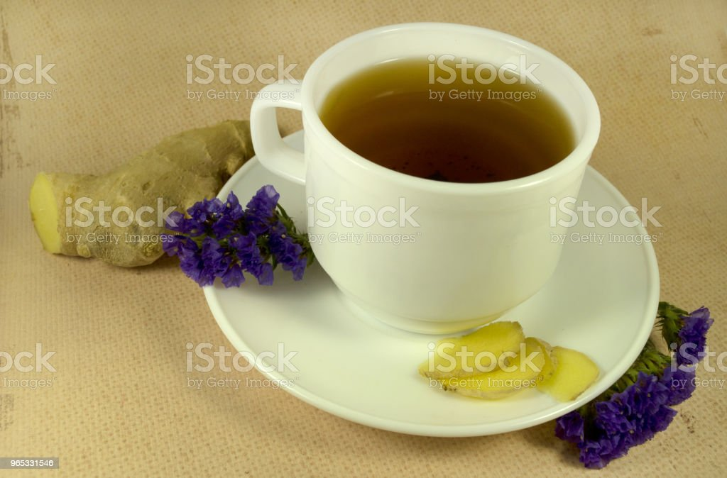 tea with ginger royalty-free stock photo