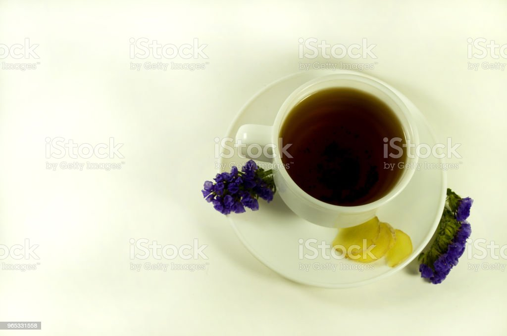 tea with ginger zbiór zdjęć royalty-free