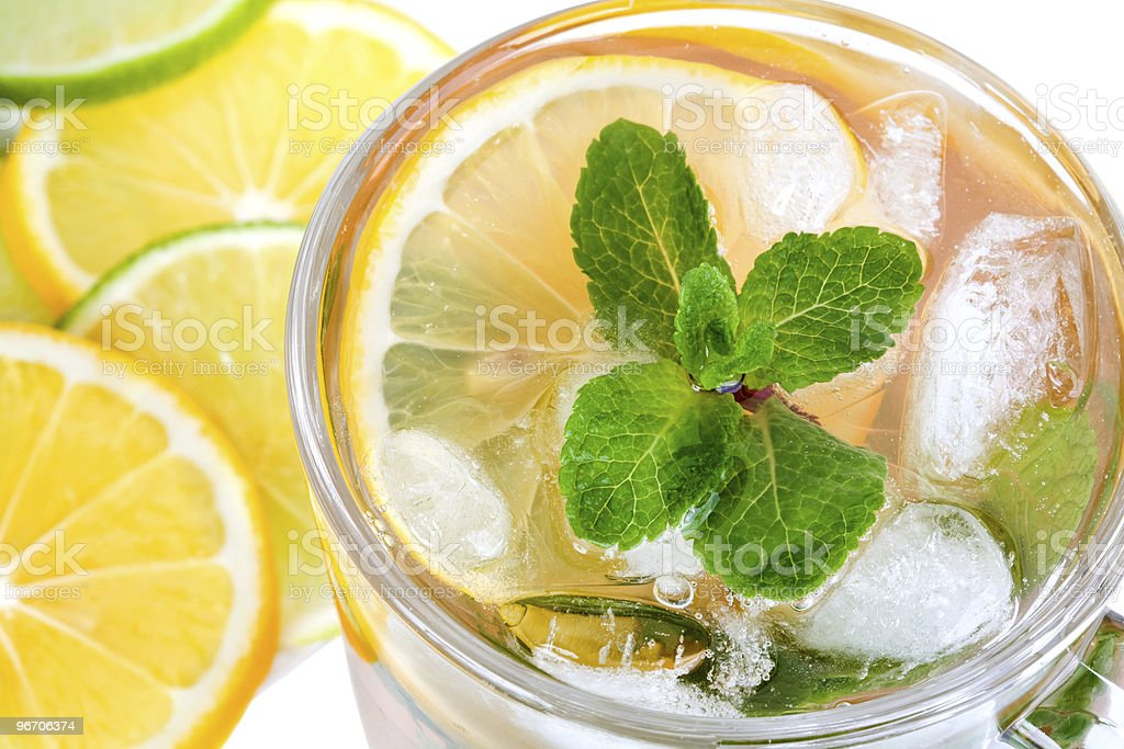 tea with ice and mint royalty-free stock photo