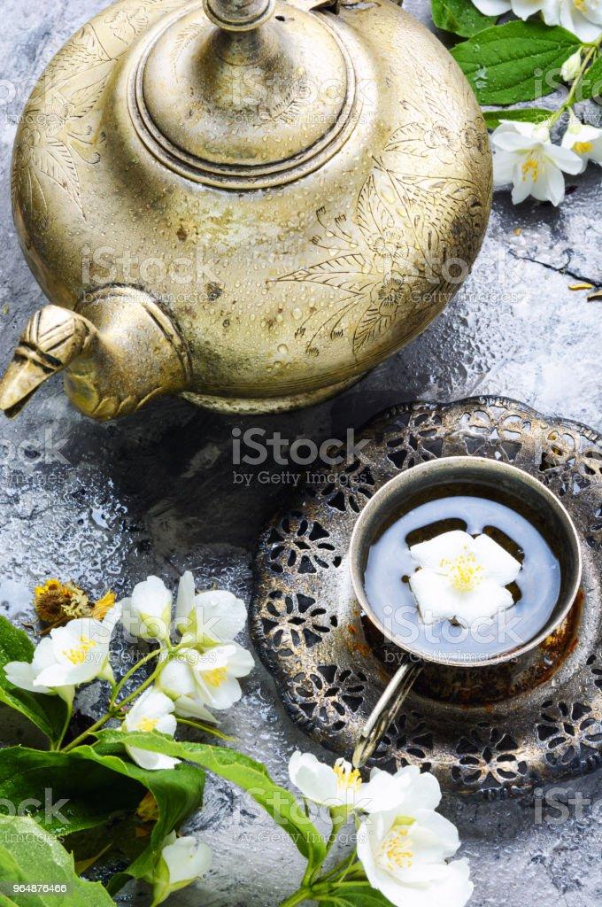 Tea with jasmine royalty-free stock photo