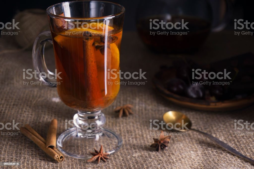tea with lemon cinnamon and anise royalty-free stock photo