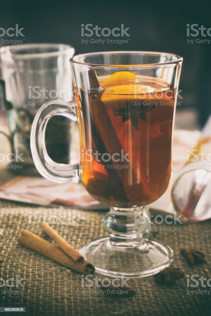 檸檬肉桂茴香茶 - 免版稅一片圖庫照片