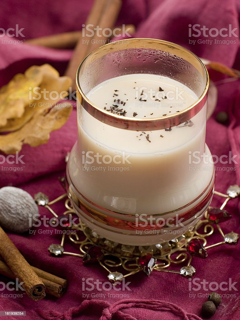 Tea with milk royalty-free stock photo