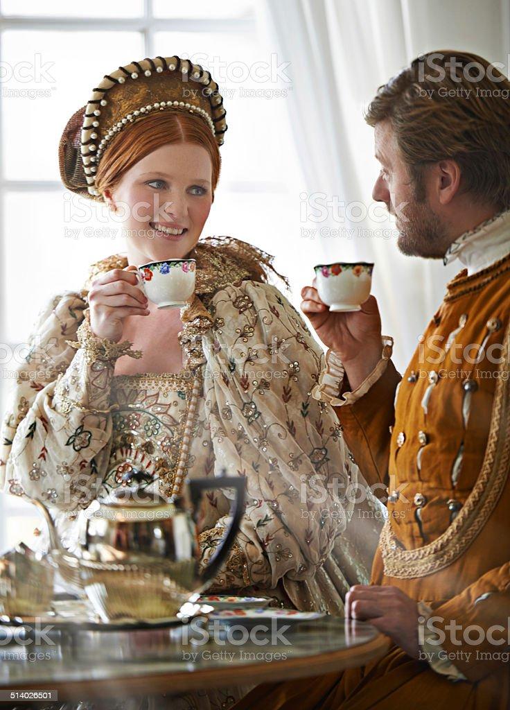 Tea with the Countess stock photo
