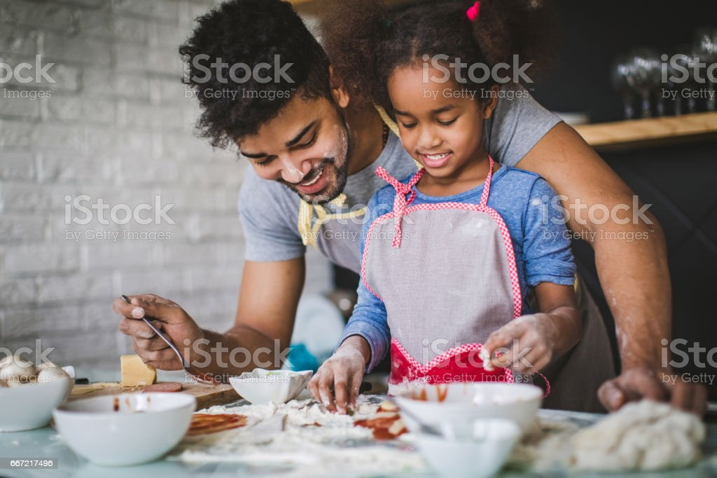 Teach your kids to cook stock photo