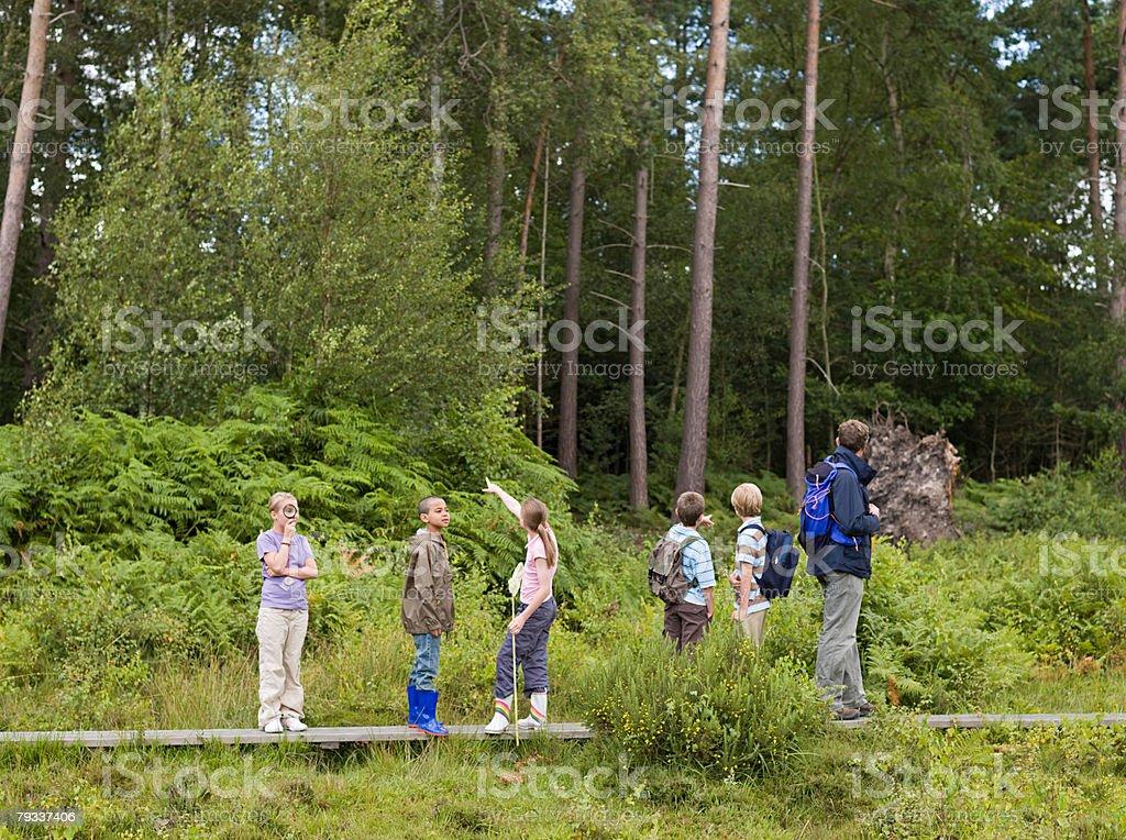 教師と pupils の遠足 ロイヤリティフリーストックフォト