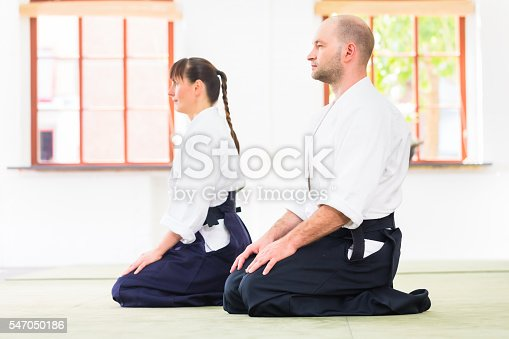 istock Teacher and student at Aikido martial arts school 547050186