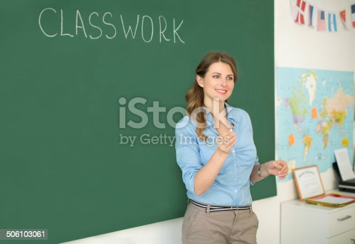 istock Teacher at classroom. 506103061