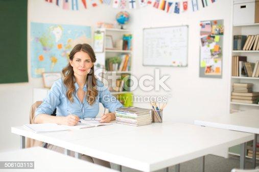 istock Teacher at classroom. 506103113