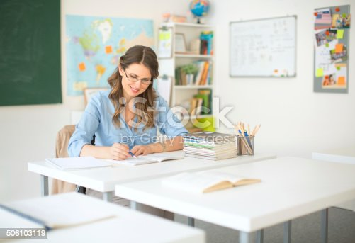 istock Teacher at classroom. 506103119