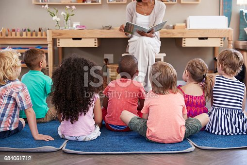 istock Teacher At Montessori School Reading To Children At Story Time 684061712