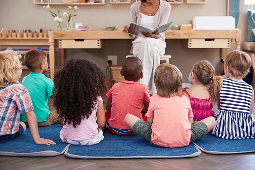 istock Teacher At Montessori School Reading To Children At Story Time 684061712