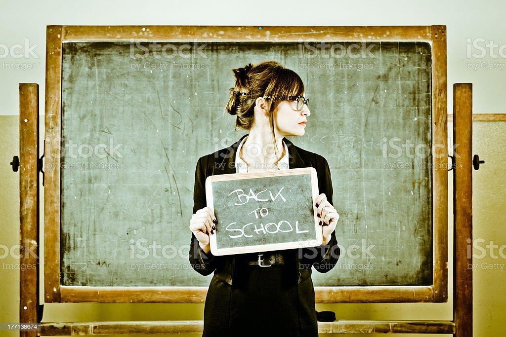 Teacher at School. Concept royalty-free stock photo