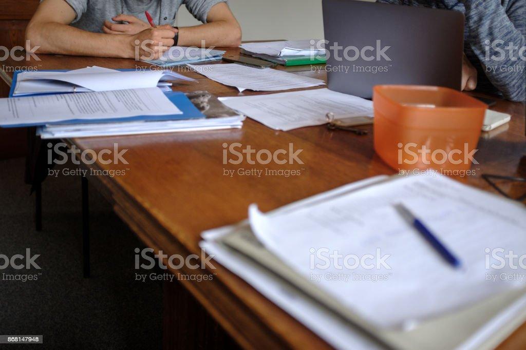 Teacher at work stock photo