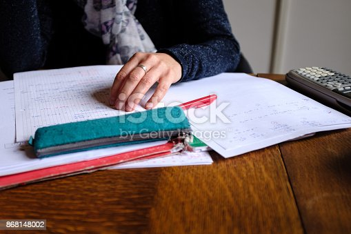 istock Teacher at work 868148002