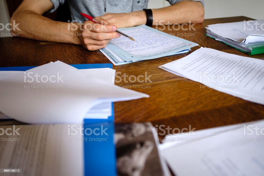 Teacher at work stock photo