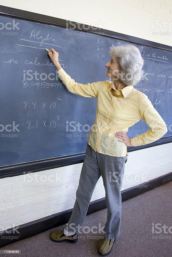 Teacher before GED class stock photo