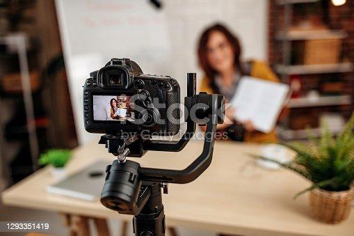 Teacher hosting online class