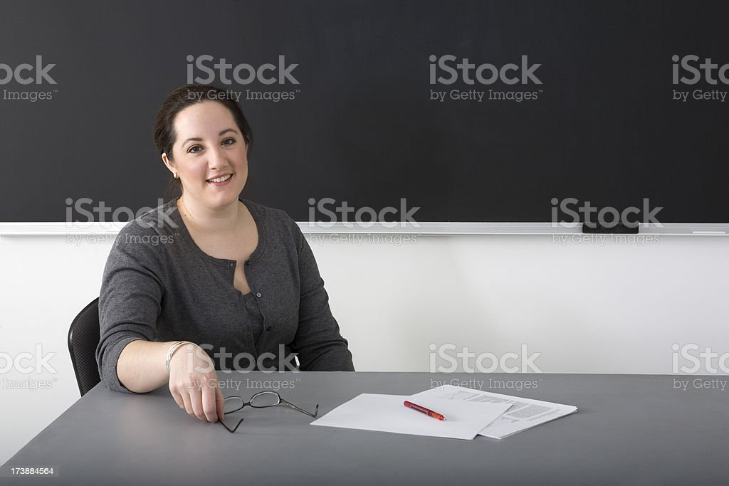 teacher in the classroom royalty-free stock photo