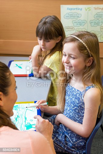 istock Teacher inspiring her young students 534034924