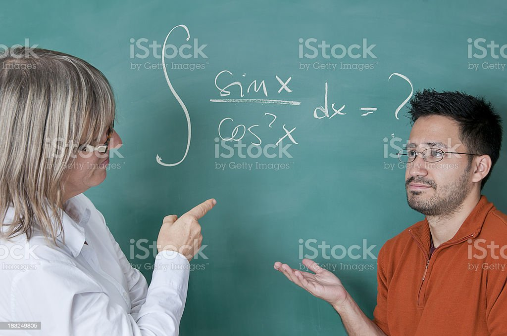 Teacher Is Asking Student A Hard Math Problem Stock Photo & More ...