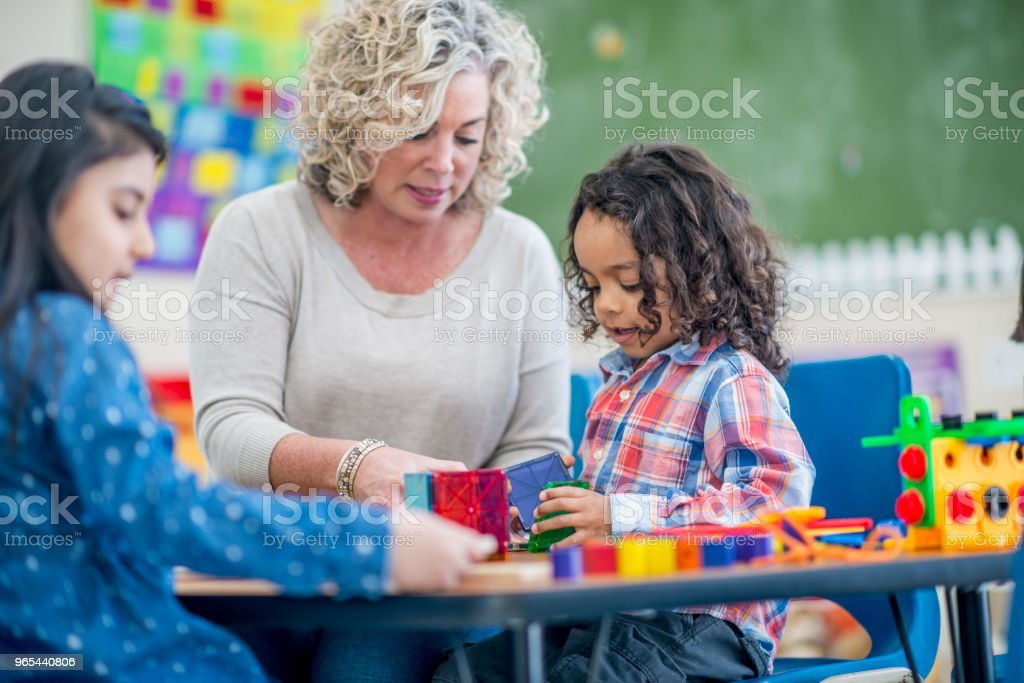 Teacher Lending A Hand royalty-free stock photo