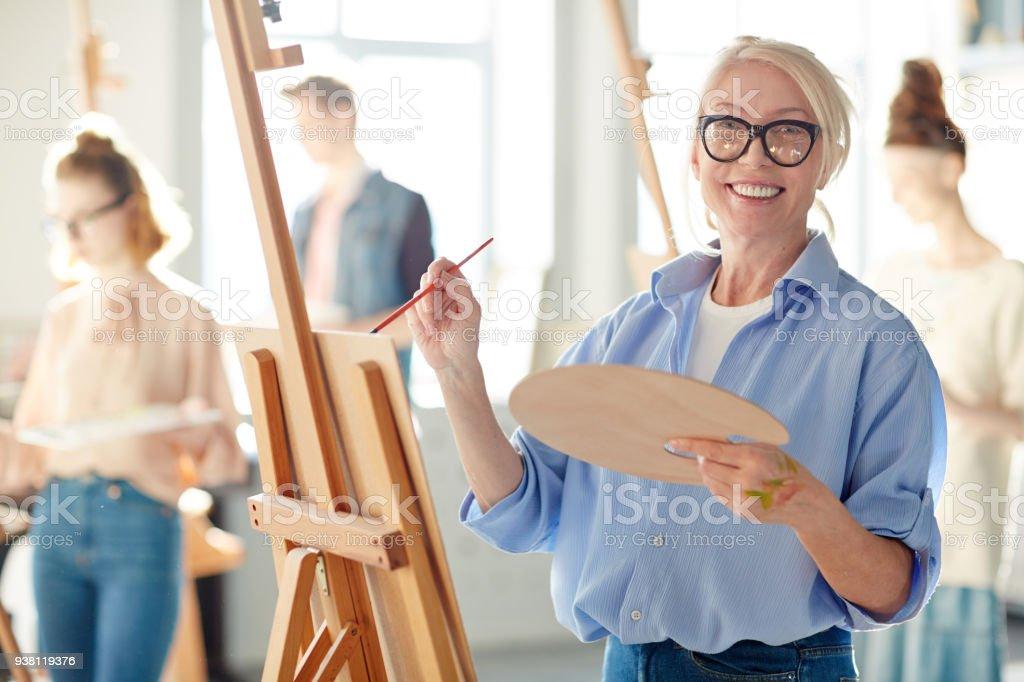 Lehrer in der Malerei – Foto