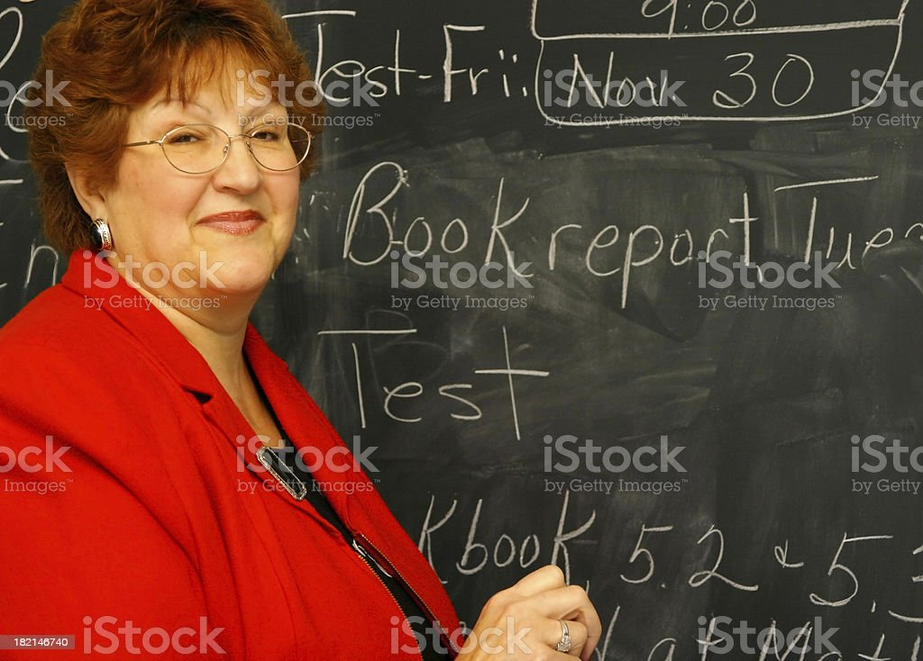 Teacher Series: Assignments royalty-free stock photo