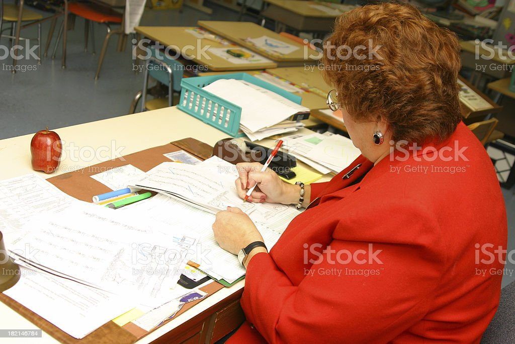 Teacher Series: Math Quiz stock photo