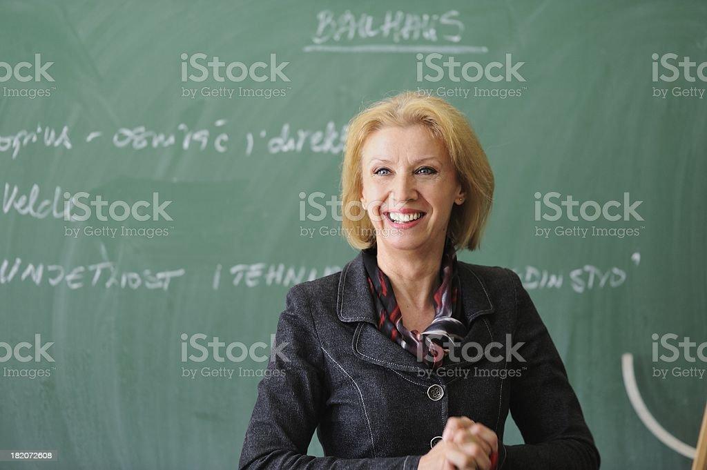 Teacher smiling stock photo