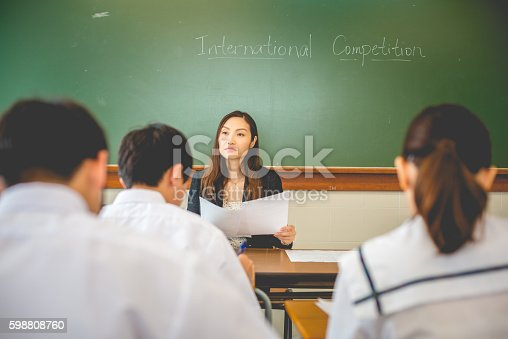 istock Teacher Surveying Competition, Physics Exam, Hong Kong School, Asia 598808760
