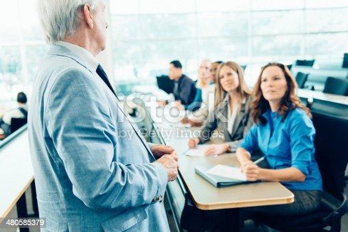 1087253494 istock photo Teacher Teaching Adult Students 480585379