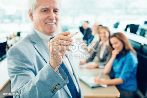 1087253494 istock photo Teacher Teaching Adult Students 482018295