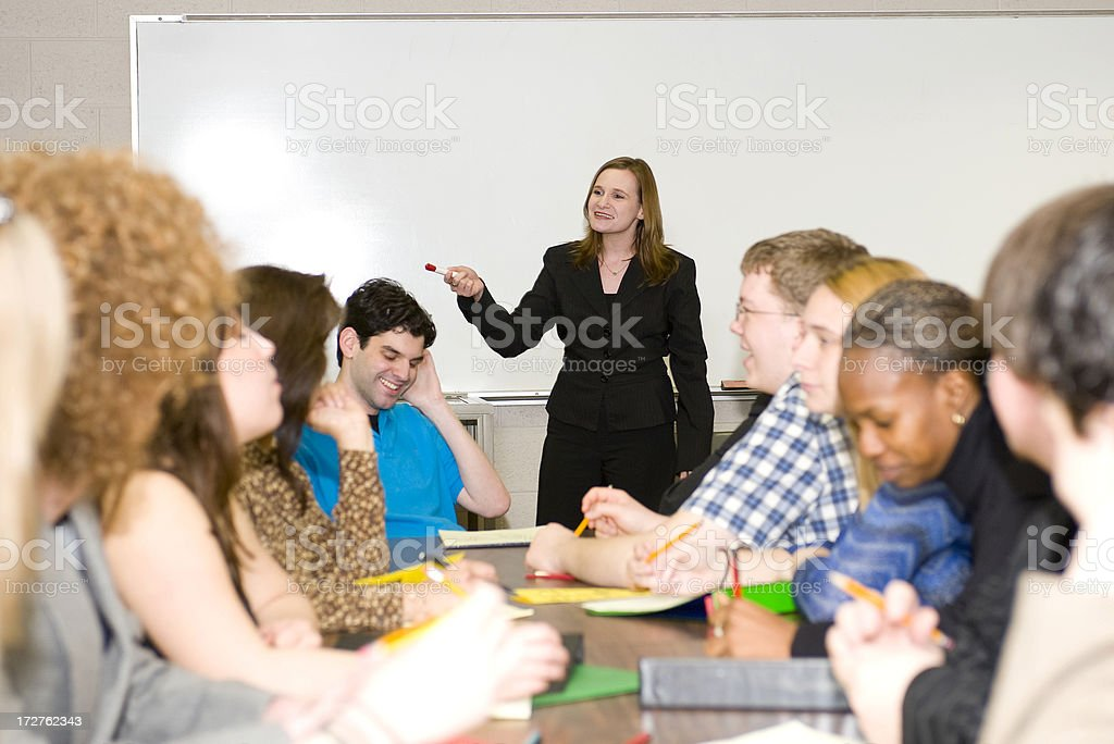 Teacher with class royalty-free stock photo