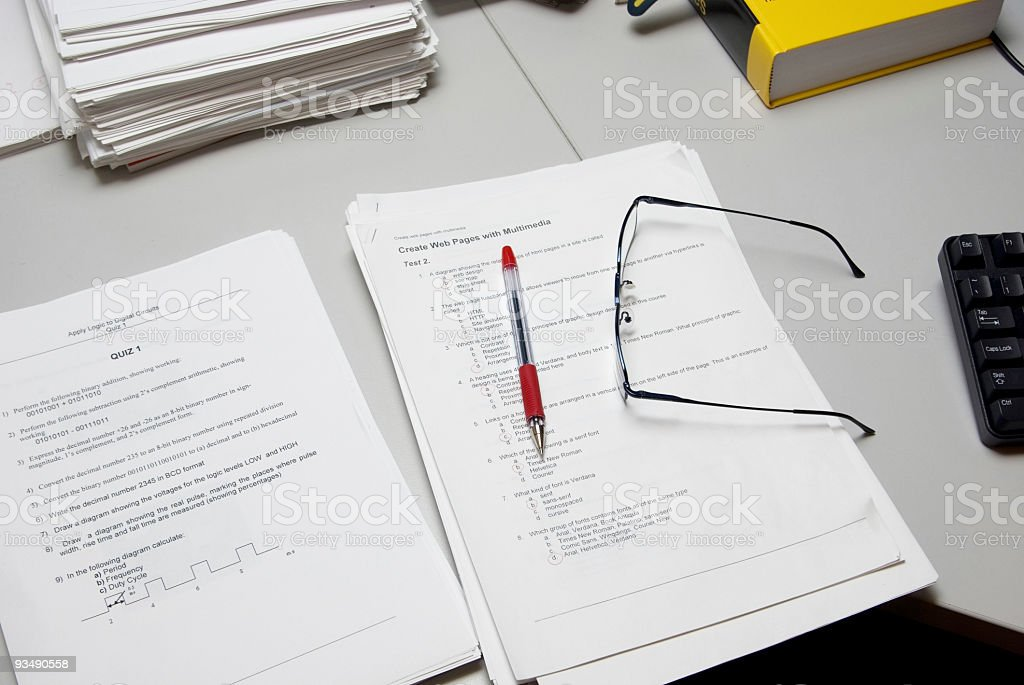 Teacher's desk royalty-free stock photo