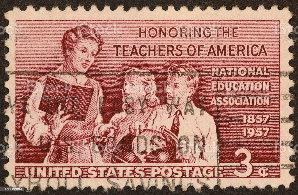 Teachers stamp royalty-free stock photo