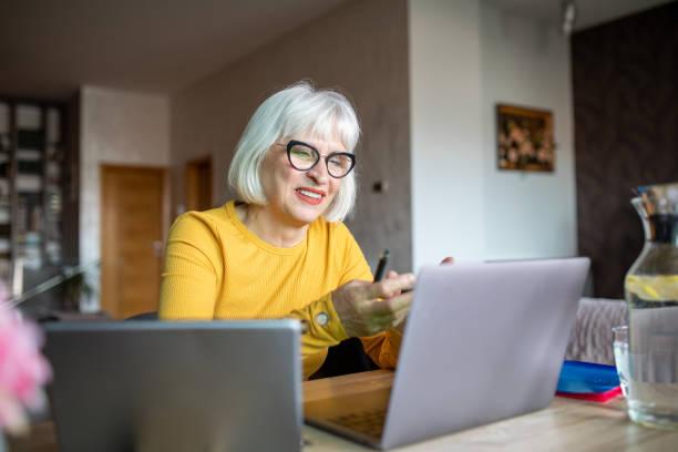 Teaching an Online Class stock photo