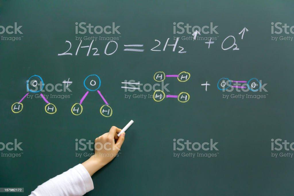 Teaching Chemistry stock photo