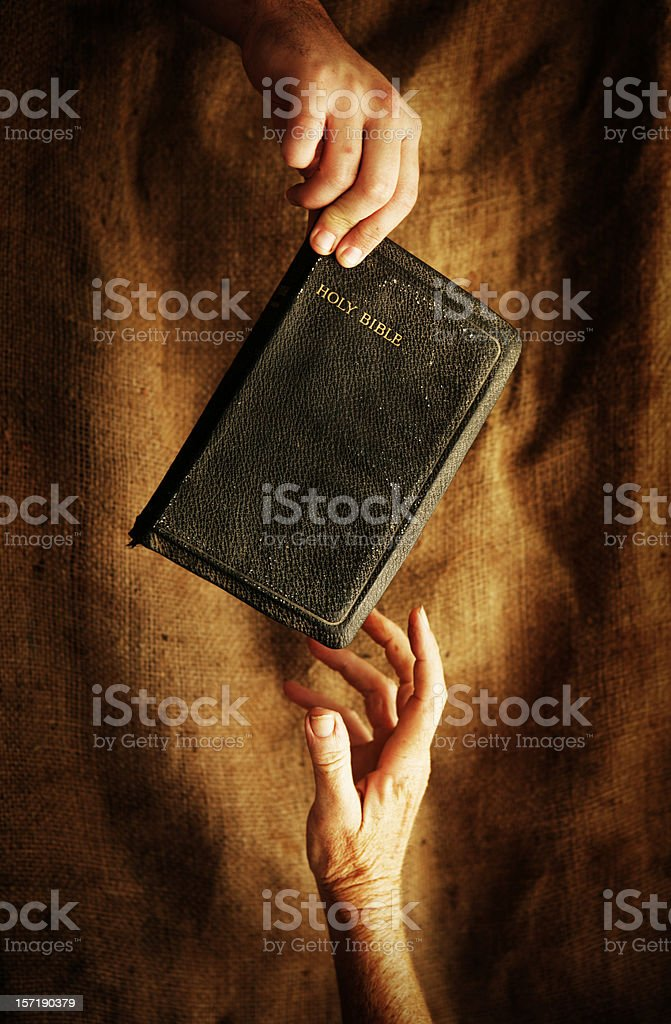 Teaching God's Word royalty-free stock photo
