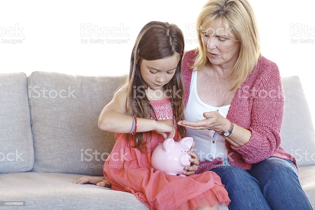 Teaching her valuable life skills royalty-free stock photo
