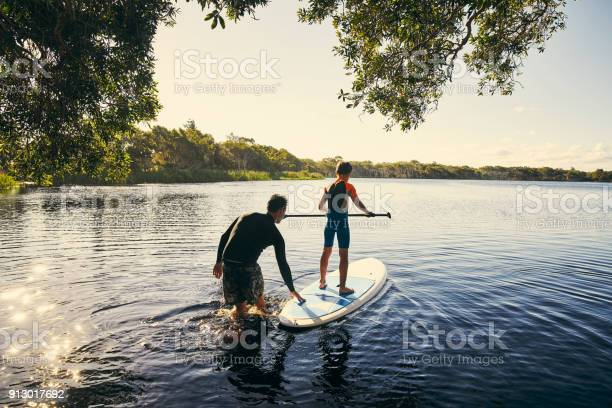 Photo of Teaching my boy how to paddle